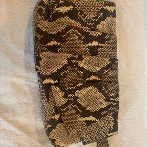 Henri Bendel faux snake skin clutch